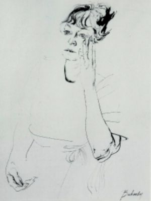 Bachardy Image of Dorothy Parker