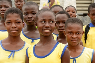 Secondary school students in Accra, Ghana