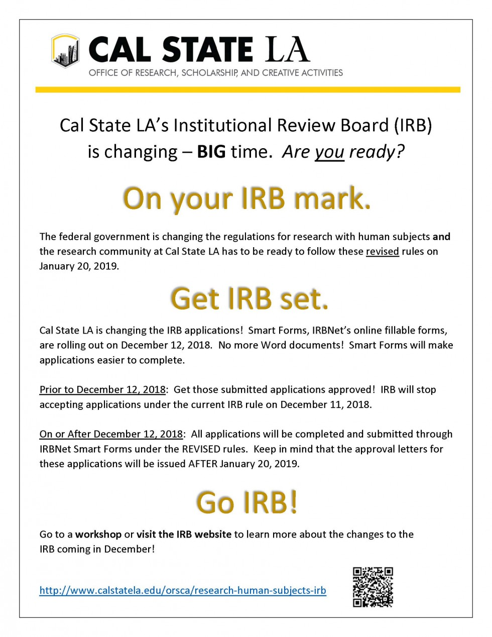 IRB Campus Announcement Flyer