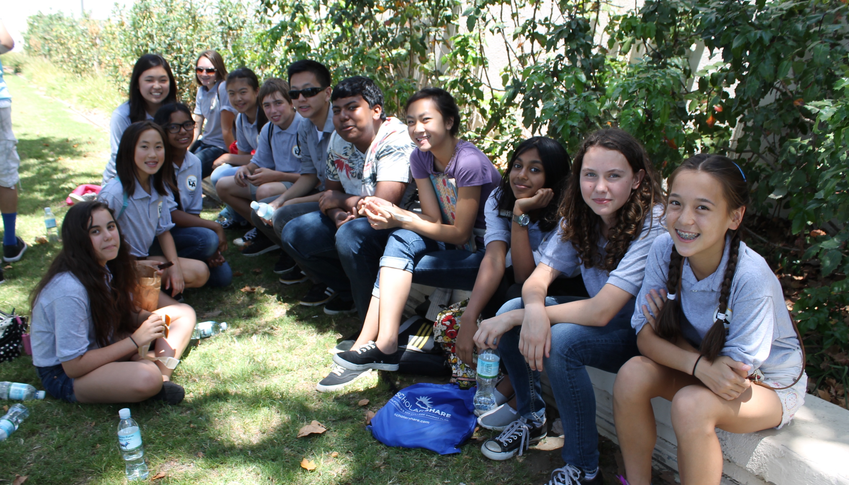 Group of students at Natural History Museum
