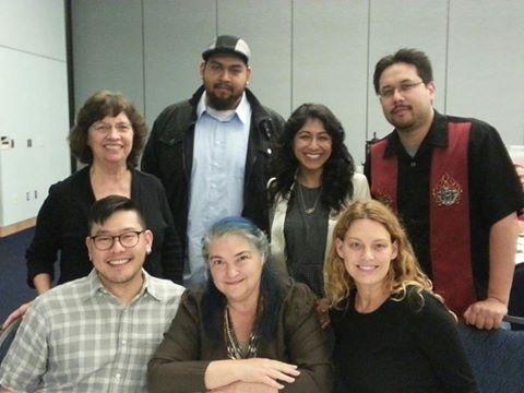 Professor Cristina with her award-winning MA students