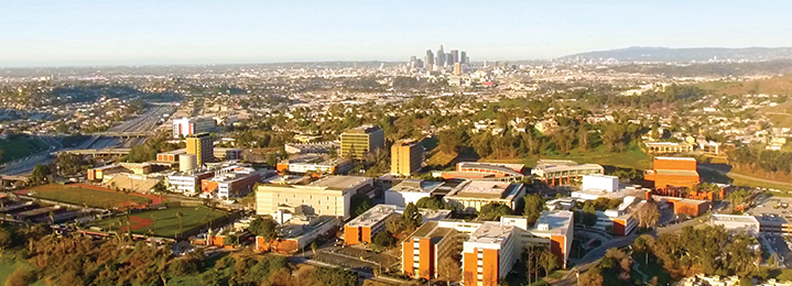 Aerial View of Cal State LA and Downtown Los Angeles
