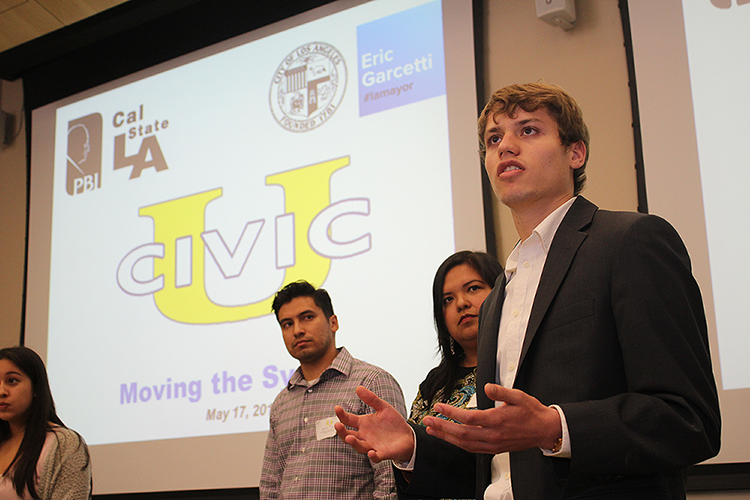 Students pitch ideas to improve the city at Civic University at Cal State L.A.
