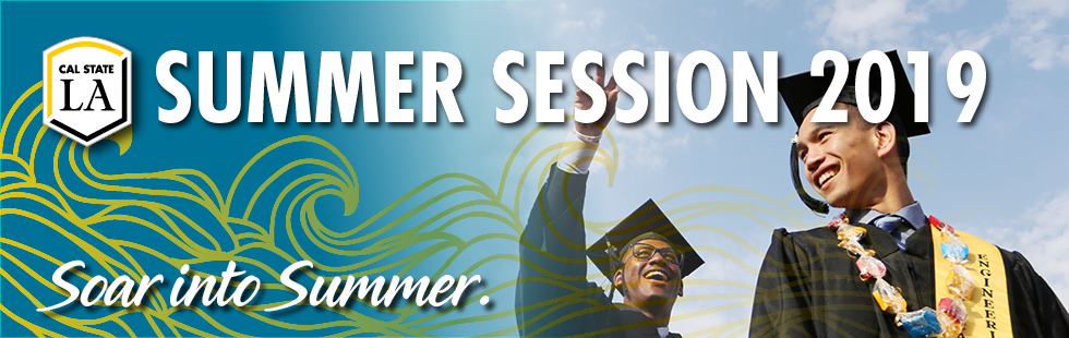 Summer Session; two male CSLA graduates at ceremony