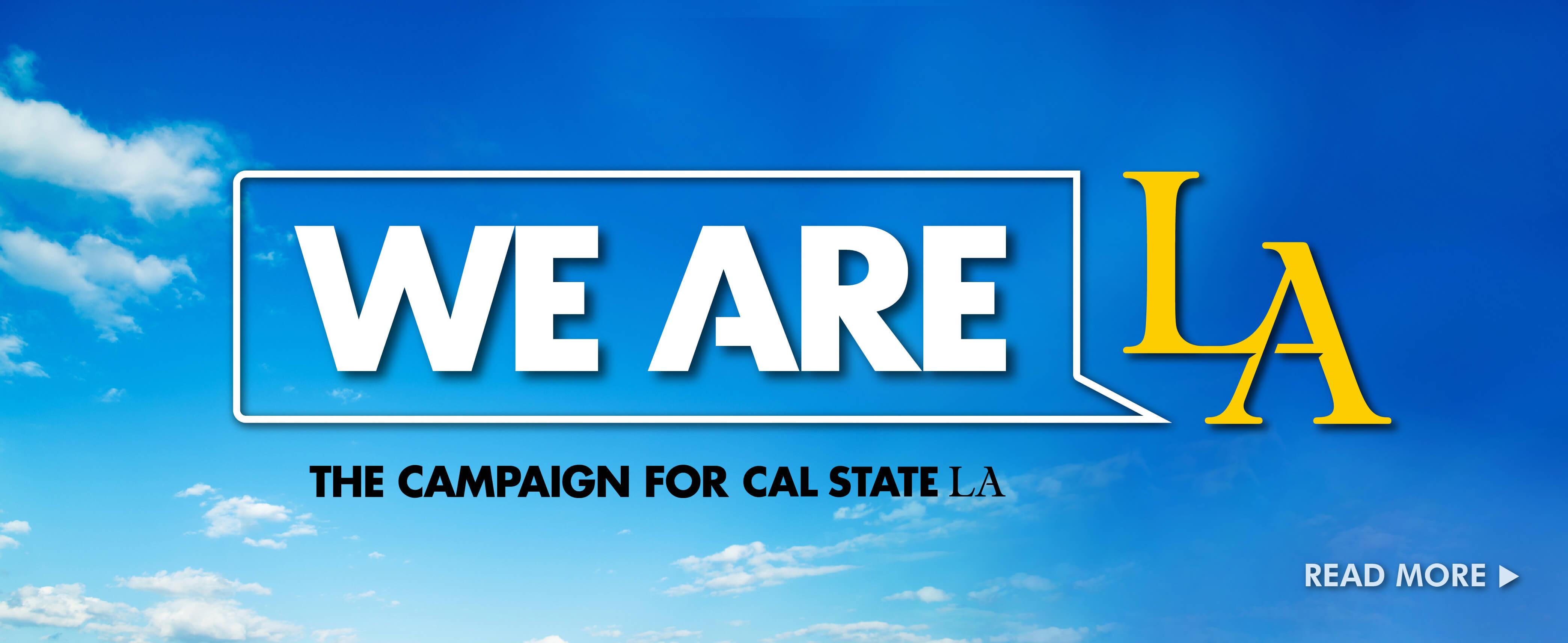 We Are LA Cal State LA Fundraising Campaign