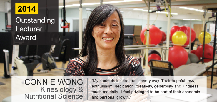 Outstanding Lecturer AwardeeProfessor Connie Wong