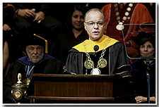 President William A. Covino speaks at the Investiture.