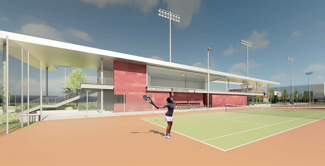 tennis center rendering