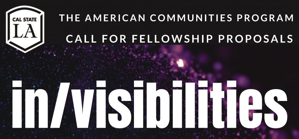 The American Communities Program, 2019-20 Call for Fellowship Proposals  In/visibilities